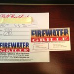 Firewater stole from me - did not honor paid for gift certificate