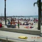 """La """"playa de Palma"""", située à 5 minutes à pied."""