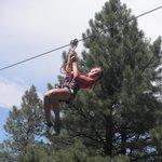 Ziplining...