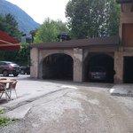 car park rear of hotel