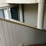 door of unit from lower set of stairs