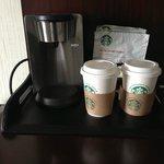 Coffee machine in room