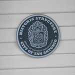 Official Historic Structure Badge on the front porch