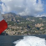 Jet ferry leaving Amalfi