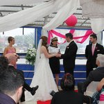 Our officiant Captain Betty Penny