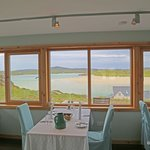 View from the dining room of Auberge Carnish