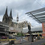 Cologne cathedral day view from front of hotel 7/30/13
