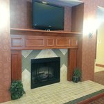 Fireplace in Lobby & Dining Area