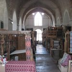Ancient looms in an ancient church