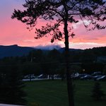 Beautiful sunset and view of Mt Mansfield from room