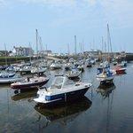 Aberaeron harbour at low tide