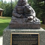 "Statue of Joe Redington, ""Father of the Iditarod"""