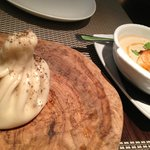 Dumpling and salmon bazhe