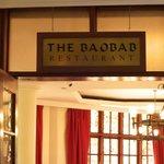 The Baobab restaurant -entrance