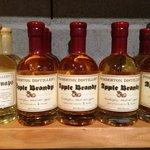 Organic Apple Brandy on the shelf