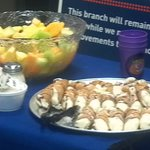 Catering - Cannolis and fruit tray
