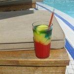 Frozen Bob Marley at the pool