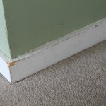 baseboards and greasy walls