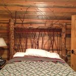 couples cabin we loved our twig bed