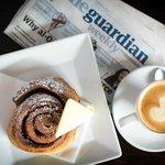 Cinnamon pinwheel, Allpress coffee