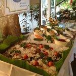 Salat- und Seafood Buffet