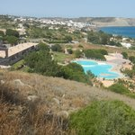 View from the hill where the proposed hotel would be built.  Shows pool and Luz in the distance
