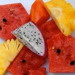 Fruits frais au petit déjeuner