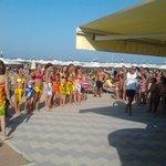 La spiaggia  convenzionata  con l'hotel jolie
