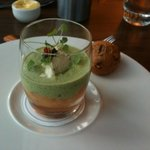 potted salmon with caviar and walnut bread