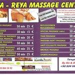 SPA Reya–Reya Antalya 2013 Massage menu