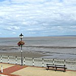 The view from the upstairs of Romeo's by the Sea, Penarth