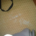 Worn carpets, central within the room!