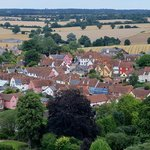 Lavenham town, from the top of the church tower