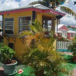 This stand is easy to find at Port Lucaya Marina (Count Basie Square).