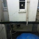 Hotel room view, not so good.