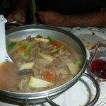Sopa de ternera y verdura