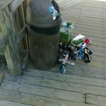 Trash can is full - just throw it down!