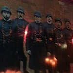 Inside the restaurant a photo of original officers of the precinct