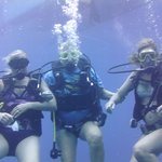 Gran and two daughters diving