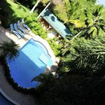 Pool area as seen from the rooms access balcony.