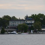 View of Gananoque Inn from the water