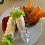 Yummy and healthy vege wraps