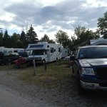 crowded campsite