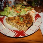 Tarte salée Babe (lardons, moutarde, champignons,...)