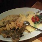 Eccellente frittura di pesce con vera polenta