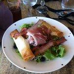 salade chèvre bonne et rafraichissante!
