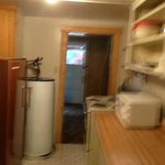 Sorry for the fuzzy photo.  This is the kitchenette