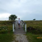 Sanibel - walkway from Colony resort to the beach