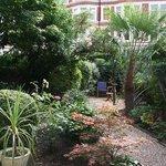 Een kleine maar leuke tuin.