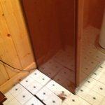 Kitchen floor full of hoels